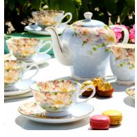 欧式骨瓷咖啡杯碟英式下午花茶具套装创意带勺红茶杯碟陶瓷花茶杯