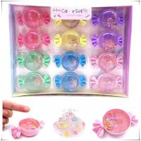 新款创意史莱姆珍珠水晶泥儿童diy糖果软陶片可吹泡泡泥透明彩泥