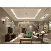 南山翡翠御园联排别墅 380平简约欧式风格装修设计效果图|尚层装饰别墅装修案例