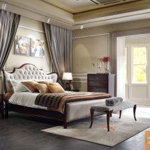 豪森家具STBALLY美式轻奢真皮床