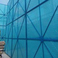 建筑外挂钢制安全网 爬架金属网 防坠落安全网 圆孔
