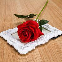 仿真装饰花束干花塑料花假花单支客厅玫瑰花绢花餐桌摆件花艺插花