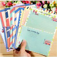 GZ韩国创意信纸NJ-011-44复古海军风中信纸信封套装 新款学生信纸