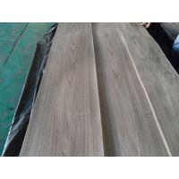 厂家直供展海黑胡桃山纹木皮 贴密度板免漆木饰面板木皮