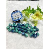 电气石珠子手串DIY材料10mm圆形托玛琳珠子锗石粒散珠饰品串珠