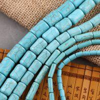 仿绿松石散珠串珠半成品4-14mm DIY手工饰品配件非天然水晶批发