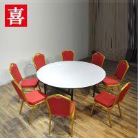 批发酒楼中式10人大型餐桌板式