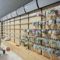 山东晨光文具店货架生产厂家 钢木靠墙文具店架子 展示柜 欢迎咨询