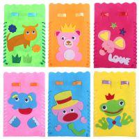 儿童布艺束口袋 不织布无纺布收纳袋幼儿园手工制作DIY材料包