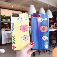 炫光卡通小鸡iphone8手机壳硅胶苹果X气囊支架全包边7p防摔软壳6s