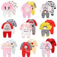 婴儿衣服春季新生儿连体衣外出服长袖哈衣0-3个月6宝宝春秋装包邮