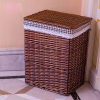 好看竹编收纳篮收纳筐置物篮超大长方形衣帽间筐储物墙角整理篮