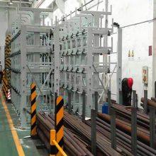 厦门可伸缩悬臂货架 配合天车用的管材货架 高承重 吊取方便快捷