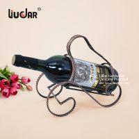 特价利达五金利达铁艺红酒架欧式创意时尚艺术扭线编织手提架字S