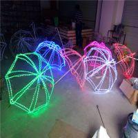定制LED灯光节雨伞造型灯 发光美陈广场公园装饰灯 立体动物造型灯