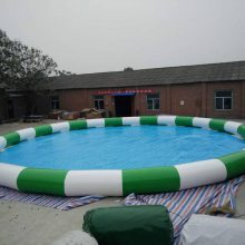 河南大型充气水池乐园 彩色儿童充气游泳池价格 XY-水池厂家