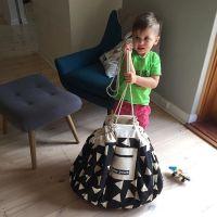 欧美INS速卖通超大户内外杂货整理儿童玩具收纳帆布爬行垫收纳袋