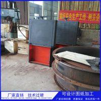 柏润 厂家烟气脱硫挡板门 手动不锈钢挡板门