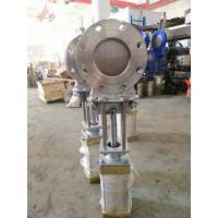 气动圆型闸板阀 耐磨不锈钢 PZ673