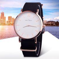 外贸热卖 男潮时尚简约防水手表学生男生女生帆布带超薄石英手表