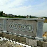 河道建筑工程石雕护栏   古建浮雕栏杆
