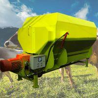 满足奶牛产奶量的饲料搅拌机 全天粮碎草饲料拌料机 中泰机械
