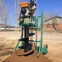 慧聪机械 制造大棚柱子打眼机价格 手提地钻机 植树造林挖坑机