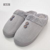 2017新款  秋冬季保暖居家拖鞋可爱布艺拖鞋日式防滑棉拖