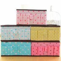 创意家居用品 无纺布收纳袋 小碎花可折叠化妆收纳盒 杂物盒