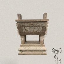 仿制古代石雕香炉塑像 清代石香炉价格参考 可议价