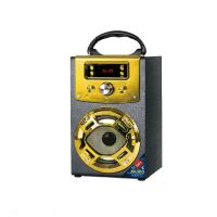 现货供应便携式Musiccrown木质蓝牙音箱圣诞节partyK歌专属音箱