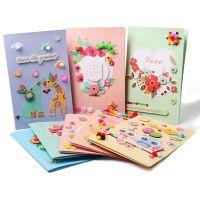 儿童创意教师节卡片幼儿园感恩礼物立体贺卡DIY手工制作一件代发