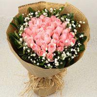 33朵粉玫瑰重庆同城北京花店天津重庆鲜花送花南京重庆长沙上海