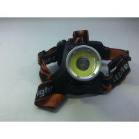 白光换红光COB+T6充电户外强光远射矿灯夜钓鱼灯铝合金XPE头灯