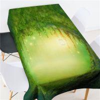 魔幻森林植物桌布 3D数码打印 上万花型可选 来图定制印logo批发