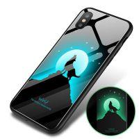 夜光新款创意iphonex手机壳苹果9 6 7 8钢化玻璃壳定制XS全包plus