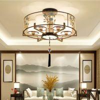 新中式吸顶灯 长方形客厅灯具简约现代大气家用中国风餐厅卧室灯