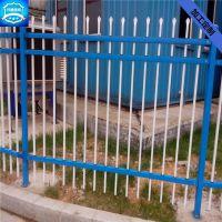 厂家供应社区锌钢护栏网围墙护栏新农村建设用三道梁锌钢护栏网