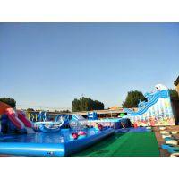 大型移动水上乐园设备户外成人支架水池游泳池儿童充气滑梯厂家