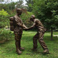 供应玻璃钢革命主题雕塑定制 纪念革命战士人物雕塑模型