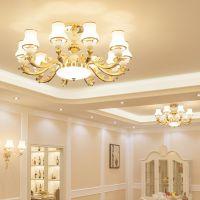 蔓欧式客厅吸顶灯现代简约客厅灯具大气家用餐厅卧室吸吊两用灯饰