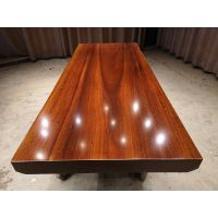 批发实木大板桌 奥坎210长85宽 原木办公会议桌电脑桌茶桌现货特价简约现代