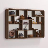 实木中式小博古架多宝阁置物架茶室壁挂式古玩柜展示架墙上古董架