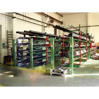 放管道的货架选用伸缩式悬臂货架 单面双面 超长超管材存放架