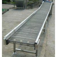 中国爬坡网带输送机 蔬菜清洗