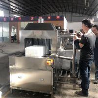 佛山顺德江门先泰XT-60PRT通过式蒸汽加热食品筐喷淋清洗机