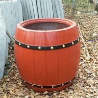 订做户外道路景观成品仿木纹花箱 荣成组合仿木花池
