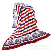 义乌库存毛毯厂家批发条纹印花空调被冰雕绒毯子床单家纺外贸货源