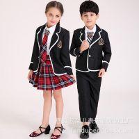 新款儿童演出服中小学生男女合唱服校服表演服幼儿园舞蹈服背带裤