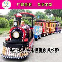 河北邢台儿童新款观光游览无轨道小火车,彩色座舱更加吸引小朋友